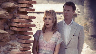 Juno Temple as Lucy Savage and Hugh Skinner as the toff Hugo in Little Birds.