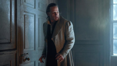Guy Pearce as Ebenezer Scrooge in a new adaptation of A Christmas Carol without a Muppet in sight.