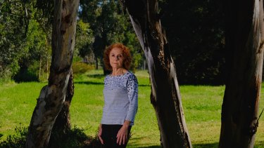 Mariella Di Fabio in Borlase Reserve, a small park opposite her house in Yallambie that will be removed to make way for the North East Link toll road.