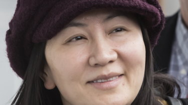 Huawei chief financial officer Meng Wanzhou arrives back at her home after a court appearance in Vancouver in March.