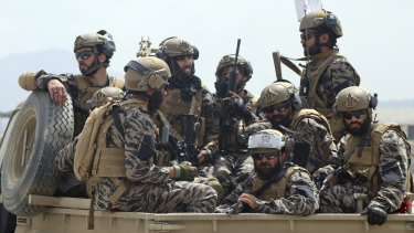 Taliban special forces fighters.