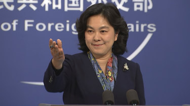 China's Foreign Ministry spokesperson Hua Chunying.