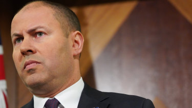 """No"", was Treasurer Josh Frydenberg's unequivocal response when asked in London if he would consider pushing back the budget surplus."