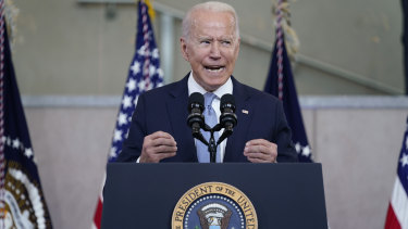 President Joe Biden delivers an impassioned speech on voting rights at the National Constitution Centre in Philadelphia.