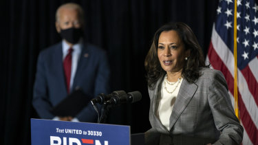Democratic vice-presidential candidate Kamala Harris was described as a 'little brown girl' in a cartoon published in The Australian on Friday.