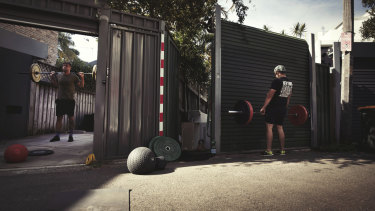 Neighbours have turned their backyards into makeshift gyms as they face months without a place to work out.
