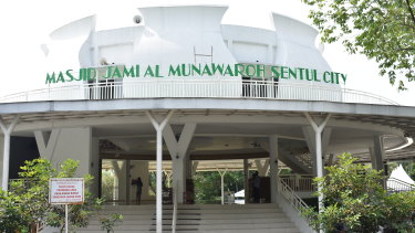 Masjid Jami Al Munawaroh in Sentul City, where the incident occurred.