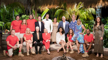 The cast of I'm a Celebrity 2021, with hosts with the most, Chris Brown and Julia Morris.