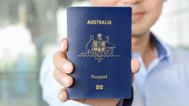 The Australian passport.