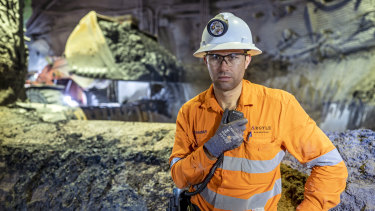 Argyle underground mine manager Brendan Murphy supervises the last tonne of ore after 37 years of operations.