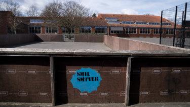 Stengaard School during lockdown in Gladsaxe, Denmark.