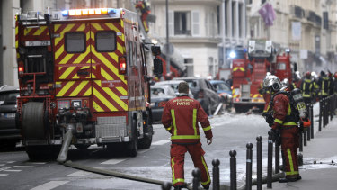 Paris firefighters at the scene of a gas leak last month.
