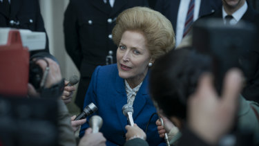 Gillian Anderson is impressive as a raspy-voiced Margaret Thatcher in The Crown.