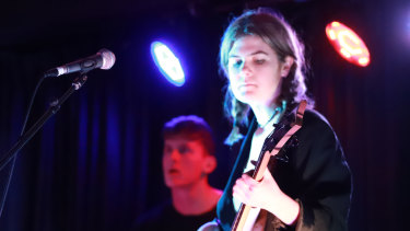 Ruby King plays a propulsive bass.