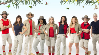 I'm a Celebrity 2021 cast: (from left) Ash Williams, Toni Pearen, Travis Varcoe, Paulini, Jess Eva, Mel Buttle, Abbie Chatfield, Grant Denyer and Jack Vidgen.