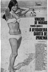 The Manchete magazine article that revealed the real Girl from Ipanema, Helo Pinheiro, with text by Vinicius de Moraes.