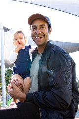 Matt Okine with his daughter, Sofia.