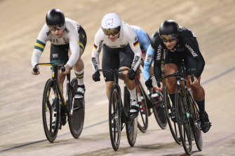 Stephanie Morton (left) was among Australia's few medal winners at the world track championships in Berlin.