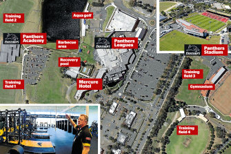 The Panthers complex could house eight NRL teams.