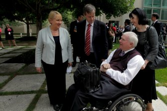John Walsh in 2011, then Associate Commissioner of the Productivity Commission, meeting with ministers in the then-Labor government, Jenny Macklin and Bill Shorten.
