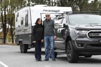 David Runkel and Sandy Runkel have hooked up the caravan and are on their way to NSW two days earlier than planned.