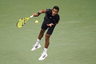 Felix Auger-Aliassime is through to the semi-finals.