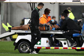 Michael Chee Kam is taken from the field against Parramatta.