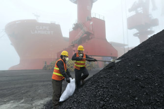 China has unofficially banned Australian coal imports since October.