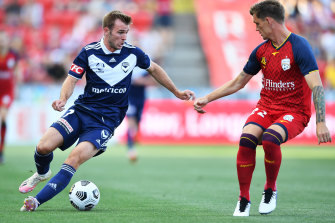 Callum McManaman (left) is feeling welcome at Melbourne Victory and aims to rekindle the spark.