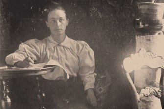 Hilma af Klint , photographed circa 1890, was guided by seances with four female friends from art school.