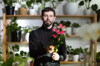 Adam Beehre isn't sure why more men don't take up floristry but says he is glad to offer something different to clients.
