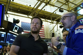 Mark Wahlberg was on hand for F45's Wall Street debut.