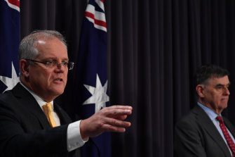 Prime Minister Scott Morrison took aim at profiteers in his press conference.