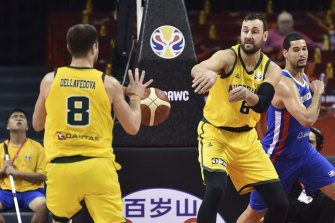 Andrew Bogut helped the Boomers stay composed in their tussle against the Dominican Republic.