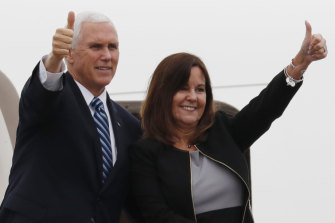 US Vice-President Mike Pence and his wife Karen.