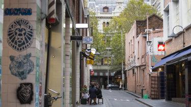 Crossley Street in Melbourne's CBD, where Pellegrini's is located.