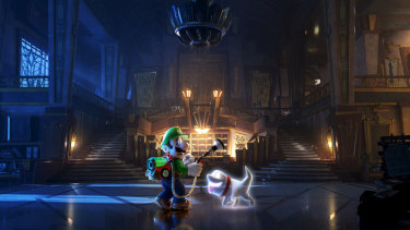 This time Luigi's trapped in a massive haunted hotel.