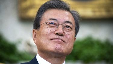 South Korean President Moon Jae-in.