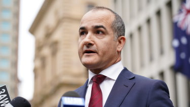 Education Minister James Merlino.