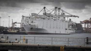 The Awassi Express at the port of Fremantle last year.