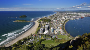 After the election, some Australians are finding NZ very attractive. Mauao Mount Maunganui in New Zealand.
