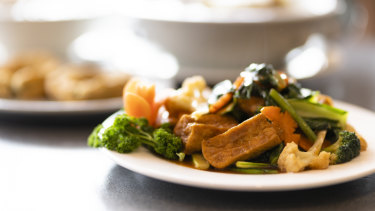 Fried Bean Curd with golden brown sauce