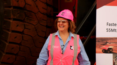 Gina Rinehart has lobbed a bid for Atlas Iron.
