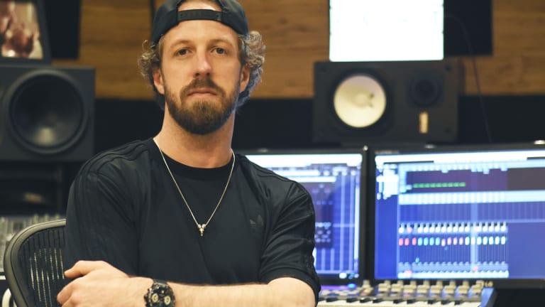 Perth DJ/producer Karl Thomas — aka ShockOne — in his studio.