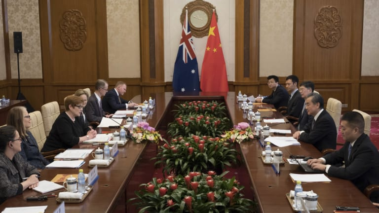 The official meeting was the first this year by an Australian minister.
