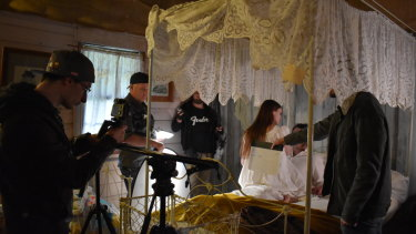 """One of the scenes of """"The Tragedy of Henry Dunkley"""" being shot."""