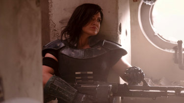 Cara Dune (Gina Carano) in The Mandalorian.