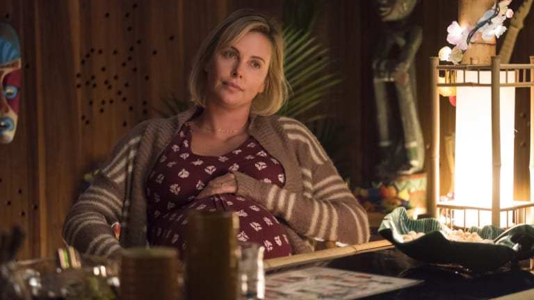 Charlize Theron as an exhausted mother in this year's Tully.