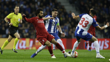 Liverpool's Mohamed Salah was in good form against Porto.