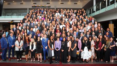 Of this year's  238 graduating Indigenous apprentices, 153 have joined the Department of Human Services.